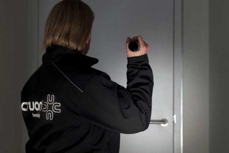 mobiele surveillance door beveiliger van beveiligingsbedrijf